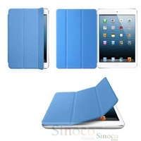 New PU Leather Magnetic Smart Cover Housing Skin + Crystal Hard Back Case Shell for iPad mini