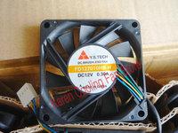 New Original Y.S.TECH FD127010HB-H 12V 0.30A 7cm 70*70*10MM 4 wires PWM cooling fan