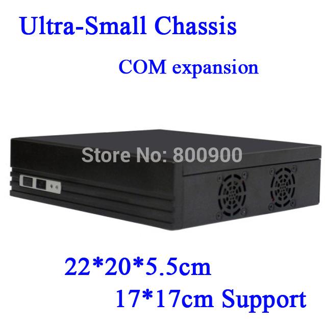 factor mini itx type horizontal U.S. version of the Mini-ITX motherboard small chassis E350 Black HD mini Car PC HTPC case(China (Mainland))