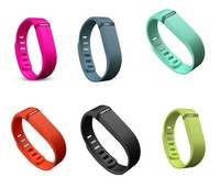 3Pcs/ lot Free faster shipping replacement fitbit wristband- 6 color fitbit flex band in a pack-large size
