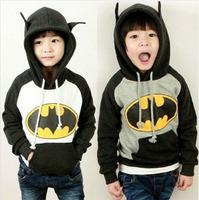 Free Shipping!New 2014 Cool Batman Children Hoodies t shirt,Baby Girls Boys Kids sport Fleece t-shirts autumn winter clothes
