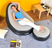 Jilong single person inflatable sofa set in living room furniture bean bag sofa 63*29cm include repair patch