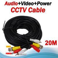 Big sale 20M Audio Video Power Camera 3 into 1 Cable BNC cctv accessories RG59