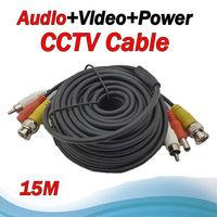 Big sale 15M Audio Video Power Camera 3 into 1 Cable BNC cctv accessories RG59