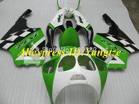 CUSTOM Fairing kit for KAWASAKI Ninja ZX7R 96 97 98 99 00 01 02 03 ZX7R 1996-2003 Green white blk ABS Fairings set +7 gifts SF08