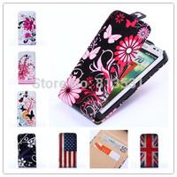 Color Butterflies PU LEATHER Cell Phones CASE FORLG L70 D320 D320N+ FREE 1 STYLUS
