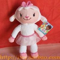 Free shipping doctor McStuffins plug cloth dolls 20 cm cute little sheep plush dolls birthday girl