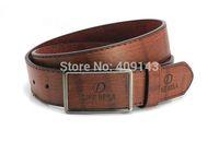 2014 4colors Brand Men Belts Waist Letter PU leather Smooth Buckle Male Belt For Men DIKE BEILA 8055