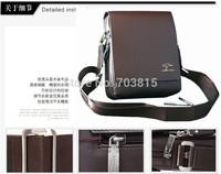 Big size  men's cowskin single-shoulder bag , black / brown business men  messenger bag