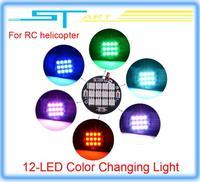 Free shipping DJI Phantom Multi-Axis RGB 12 LED Color Changing Night Flight Light for Drone rc quadcopter Dji phantom 2  boy toy