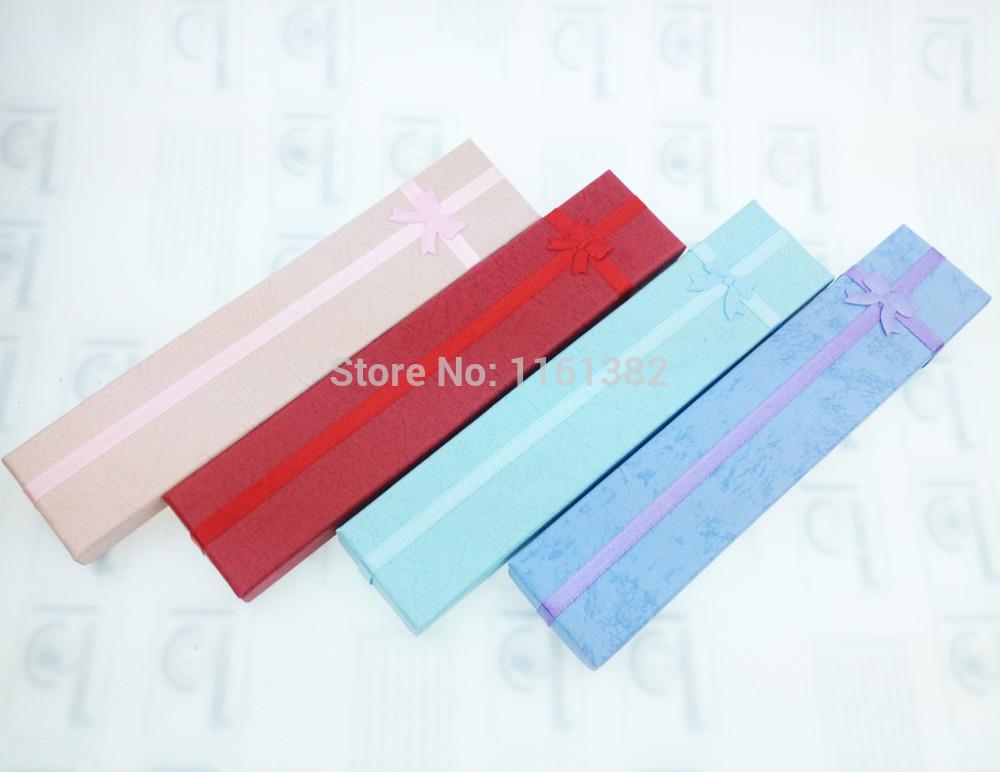 2014 Fashion Colorful Multicolored Square Bracelet box Jewelry Gift Box(Random mixed color) 4*21cm(China (Mainland))