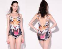 New 2014 Tiger Swimsuit Animal Print Swimsuits Galaxy Sexy One Piece Swim Suits Digital Print Swimwear Women Bathing Suits