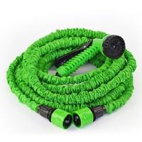 Free shipping hose 100 feet water garden green water pipe valve + spray gun with a gun, car cleaners