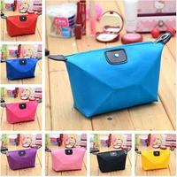 Free shipping 10 pcs/lot 2014 New Arrived Nylon Dumpling Cosmetic Bag Waterproof Makeup Bags Women's Portable Storage Pouch