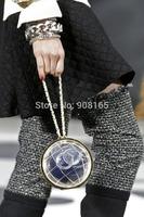 Free Shipping New 2014 Globe Clutch Handbags Brand Design Fashion Luxury Women Bag Top Quality Women Wallets  B2145