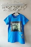 Printed T-shirt wild boy casual T-shirt Korean version of the trend of European children's fashion children's personality