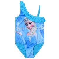 Frozen elsa swimsuit Baby Swimwear 2014 New Girls Swim wear Kids Bikini frozen swimmers Tankini Beachwear Bathing Wear 5pcs/lot
