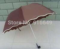 Top Quality umbrella, Brown umbrella for sunny and rainy day, woman umbrella