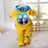 New 2014 baby clothes china baby clothing set,1st birthday gift,4colors cotton kids set  scasualsuit,Long sleeve clothes sets