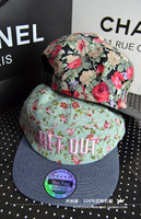 2014 New Arrived Korean Style  Sweet Vintage Small Floral Pattern Get Out Fashion Hip Hop Hat Baseball Cap   A58