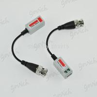 20pcs/lot Twisted BNC Video Balun Passive Transceivers UTP Balun BNC Cat5 CCTV UTP Video Balun up to 3000ft Range