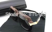 New 2014 Fashion Designer Cazal 607 Brand women men Sunglasses Vintage eyewear vogue glasses Snake skin Best quality 4cols