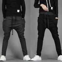 2014 new mens harem pants long sweatpants men's baggy pants drop crotch pants men academia outdoors trousers calca masculina