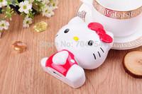 HIgh qualtiy 30pcs/lot 11000mAh USB Portable Battery Pack Power Bank Hello Kitty 3D Cartoon Design For iPhone and Samsung Galaxy