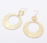 Free shipping brincos de argola cheap girl's rock jewelry metal hoop earrings fashion ladies gold plated nightclub earrings 2014