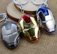 Marvel Super Hero Iron Man Keychains Key Chain Metal Pendants Key Ring Free Shipping