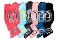 Women's Brand Velvet COUTURE Tracksuits,Women Velours Suits,Sport Tracksuits,Hoodies & Pants SIZE S--XL #06025