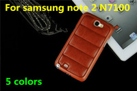 Luxury Crazy horse back leather case for Samsung Galaxy Note 2 N7100 Unique mobile phone cases for galaxy note 2