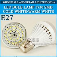 5PCS/lot LED bulb lamp bulbs led lights E27 3W 5W 7W 9W 12W 5730SMD Cold white/warm white AC220V 230V 240V Free shipping