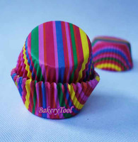 100pcs colorful rainbow kitchen accessories paper Baking Cups wedding cake decorating supplies Cupcake Liners free shipping
