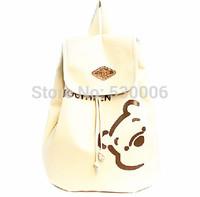 Hot Sale 2 Colors Cute Cartoon Bear Soft PU leather Backpack,Fashion Women girls Casual String Daypacks Bags