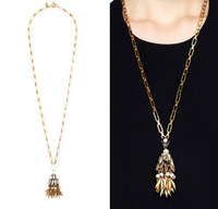 JC100 2014 New arrived Jewerly BELL TASSEL PENDANT NECKLACE Fashion Design Spike Pendant CHIC Necklace Best Price No Min Order