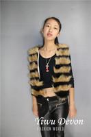 2014  Leopard Fur Vest Faux Fur Mink Vest Fur Coat for Women