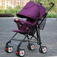 Sanle dual baby car child car baby car trolley car umbrella light folding four-wheel