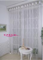 Modern brief large curtain yarn organza flower curtain all-match screens rustic curtain yarn sheer curtains living room