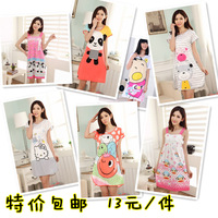Summer maternity postpartum prenatal home clothes 100% cotton sleeveless one-piece dress bf8