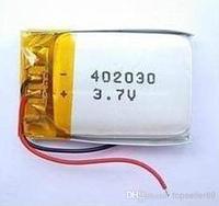 Wholesale - 3.7V 300 mAh Polymer Lithium Battery LiPo For Mp3 GPS ipod sat Nav 042030 402030