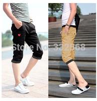 New 2014 Shorts Men Slim Fit Cotton Outdoors Travel Beach Surf Sports Pants cargo shorts Fashion Bermuda 9 Colors No belt YF055