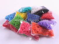 12 packs/lot 2014 new rubber loom band 12 colors loom bands 300pcs + 12 Clip /bag for Bracelets