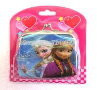 wholesale- -NEW 24Pcs Frozen Cartoon Coin Wallet Purse  coin purse/Buckle wallet
