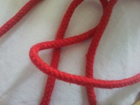5mm cotton rope, solid cord inside,garment accessories, packing rope,red color,backpack rope,30meters/lot