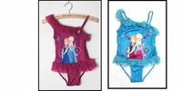 2014 New Frozen Swimsuit for girls UV protection swimwear children bathing suits kids one piece swim suits Free shipping