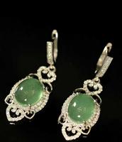 925 silver grape green fluorite, vintage earrings short necklaces