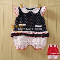 new 2014 summer baby clothing newborn short sleeves princess romper baby girls cute dot jumpsuit kids shorts baby wear