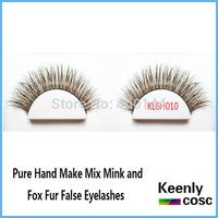 Free Shipping! Quality natural long eyelashes professional eyelashes makeup mix pure mink and fox fur eyelash extension