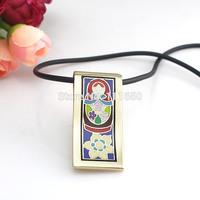 Newest Strip Colorful Goden Matryoshka Doll Design Enamel Jewelry Pendant Necklace,1pcs/pack